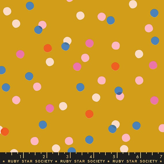 Dots in Goldenrod (RS001021) by Ruby Star Society for Moda -- Fat Quarter