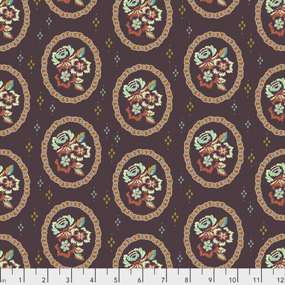 New Vintage by Kathy Doughty for Free Spirit Fabrics - Fat quarter of Mini Charm in Ganache