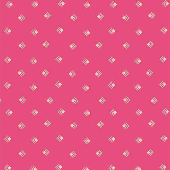 Open Heart by Maureen Cracknell for Art Gallery Studio-  Fat Quarter of Everlasting Tokens Pink