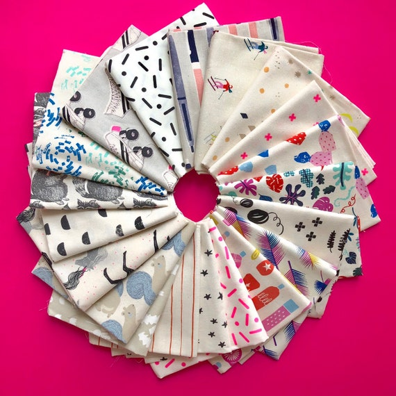 Cotton and Steel bundle of 20 light fabrics as shown in photo