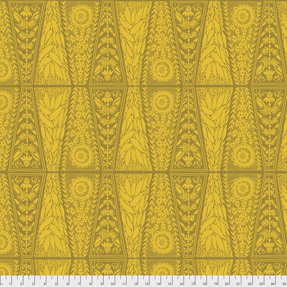 Second Nature by Anna Horner for Anna Maria's Conservatory - Dresden Lace in Saffron