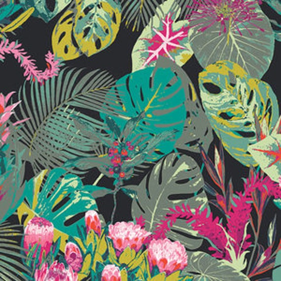 Esoterra by Katarina Rocella for Art Gallery Fabrics - Tropicalia in Dark