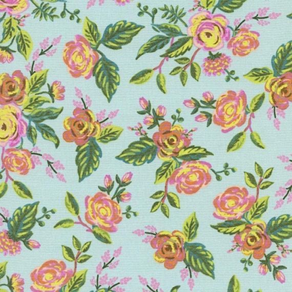 Menagerie -- Jardin de Paris in Mint by Rifle Paper Company for Cotton and Steel