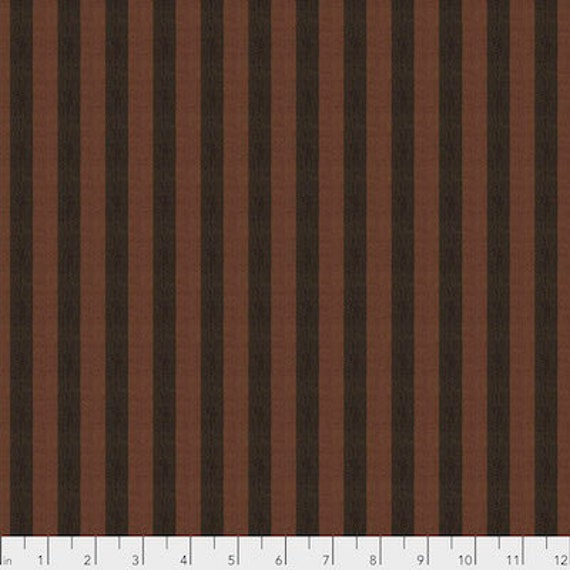 Kaffe Fassett Shot Cotton Stripes -  Fat Quarter of Cocoa in Narrow Shot Cotton Stripe