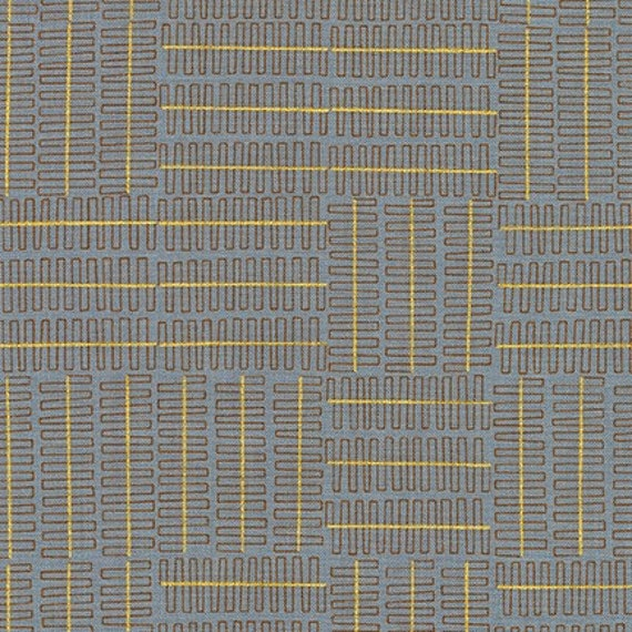 Robert Kaufman - Wayside by Karen Lewis - Grey grid pattern on grey (AWIM-18692-12)
