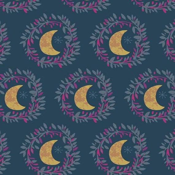 Mystical Land by Maureen Cracknell for Art Gallery Fabrics - Lunar Illusion in Flame
