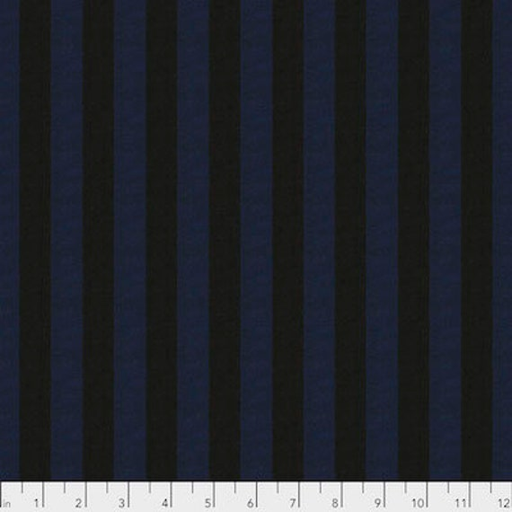 Kaffe Fassett Shot Cotton Stripes -  Fat Quarter of Ink in Wide Shot Cotton Stripe