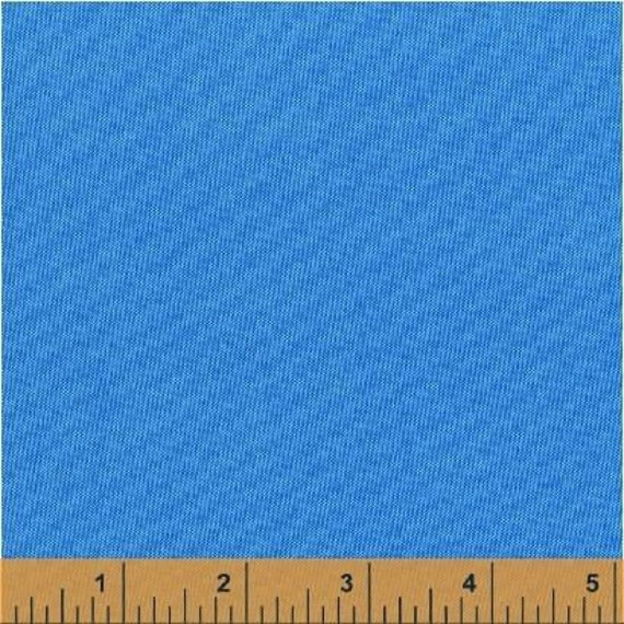 Fat Quarter - Heather Ross Kinder Coordinate - Artisan Cotton -Blue/Aqua - Another Point of View for Windham - 40171-9