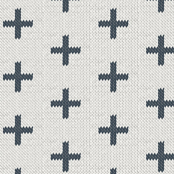 Hooked by Mister Domestic for Art Gallery Fabrics - Chain Stitch Crosses - Fat Quarter