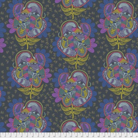 Tambourine by Anna Horner for Free Spirit Fabrics - Bird Watching in Lamplight