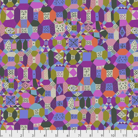 Endless Summer by Monika Forsberg for Anna Maria Horner's Conservatory Chapter 3 - Fat Quarter of Groove in Purple