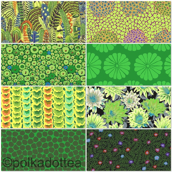 Preorder February2021 -Kaffe Fassett Collective - Fat quarter bundle of 8 in Green