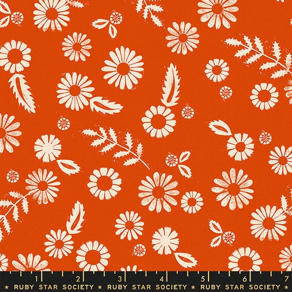 Golden Hour -- Daisy in Warm Red (RS4017-20) by Ruby Star Society for Moda -- Fat Quarter