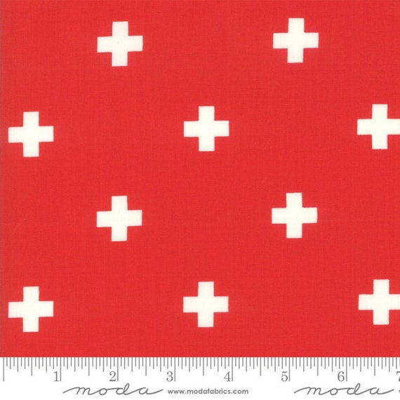 Just Red-- Plus in Lipstick (1702-12) by Zen Chic for Moda -- Fat Quarter