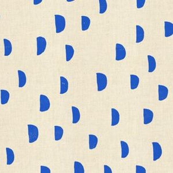In Stock! Printshop Moons in Blue by Alexia Marcell Abegg for Cotton and Steel