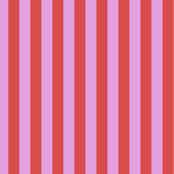 Fat Quarter Tent Stripe in Poppy  - Tula Pink's All Stars Fabric for Free Spirit Fabrics