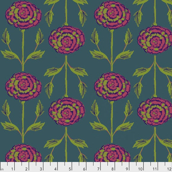 Flower Shop by Courtney Cerruti for Anna Maria Horner Conservatory 4 with Free Spirit Fabrics - Fat Quarter of Carnations in Garden