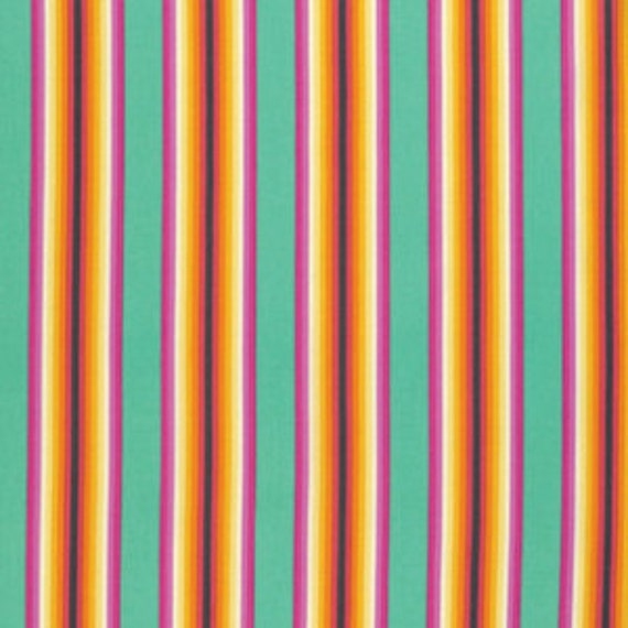 Fat Quarter Tick Tock Stripe in Sorbet - Tula Pink Chipper