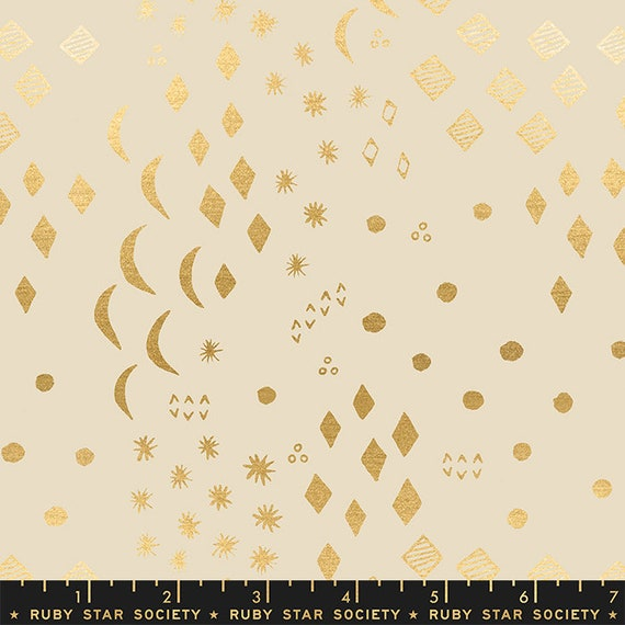 First Light Moonrise in Sandbox Metallic  (RS051-11M) by Ruby Star Society for Moda -- Fat Quarter