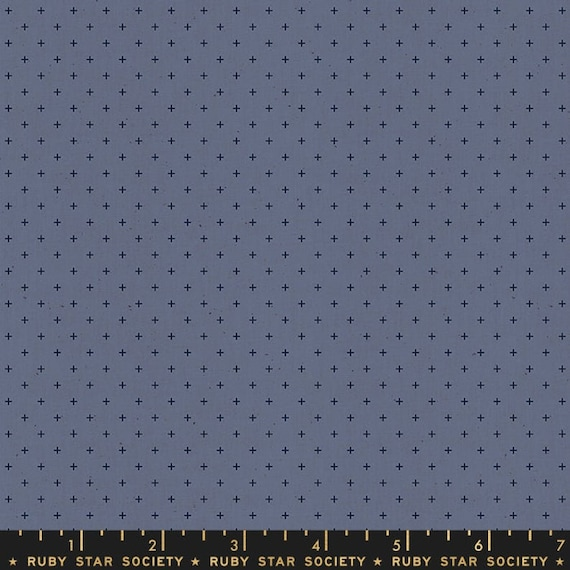 Add It Up and Alma by Alexia Marcelle Abegg -- Ruby Star Society Fabric, RS4005-37 Fat Quarter of Add It Up Blue Slate