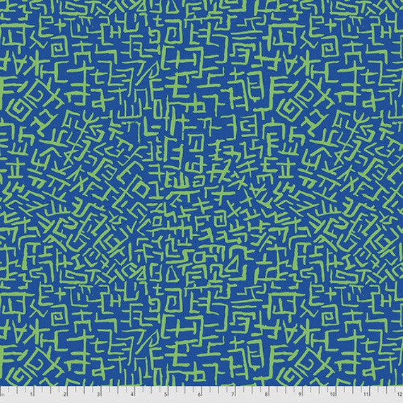 Kaffe Fassett Collective August 2021 -- Fat Quarter of Brandon Mably Amaze in Blue