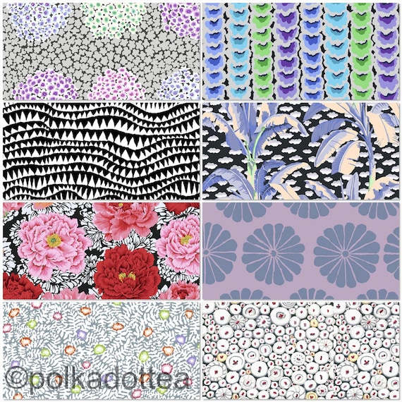 Preorder February2021 -Kaffe Fassett Collective - Fat quarter bundle of 8 in Contrast