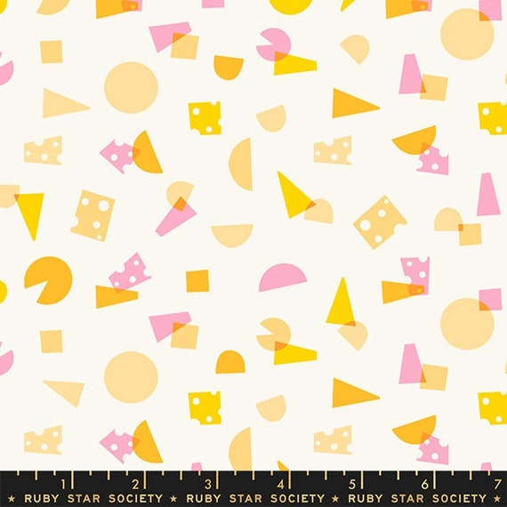 Food Group Say Cheese in Sweet Cream (RS5039 11) by Ruby Star Society -- Fat Quarter