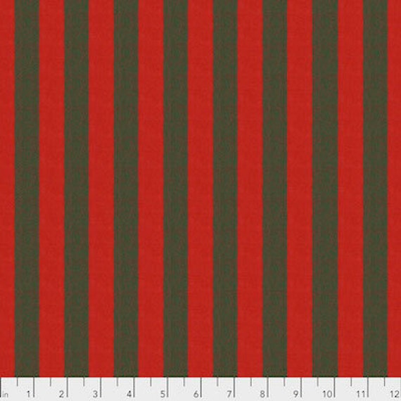 Kaffe Fassett Shot Cotton Stripes -  Fat Quarter of Chestnut in Wide Shot Cotton Stripe