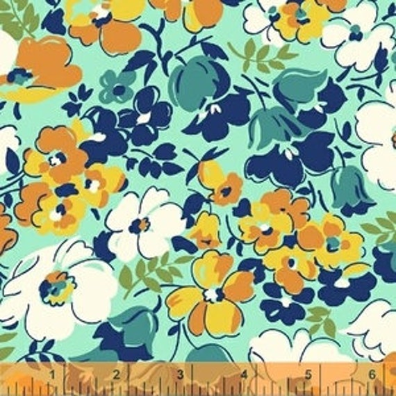 Hello Jane by Allison Harris for Windham Fabrics - Hello Jane in Orange - Fat Quarter
