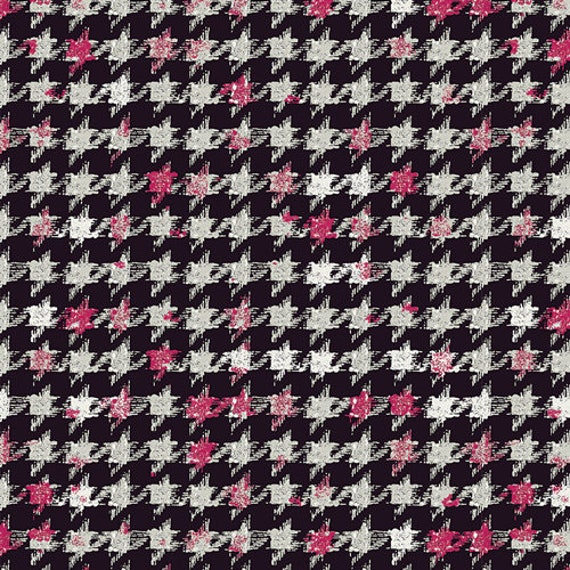 Art Gallery Houndstooth XIV Amour in Knit - Purchase in 25cm Increments