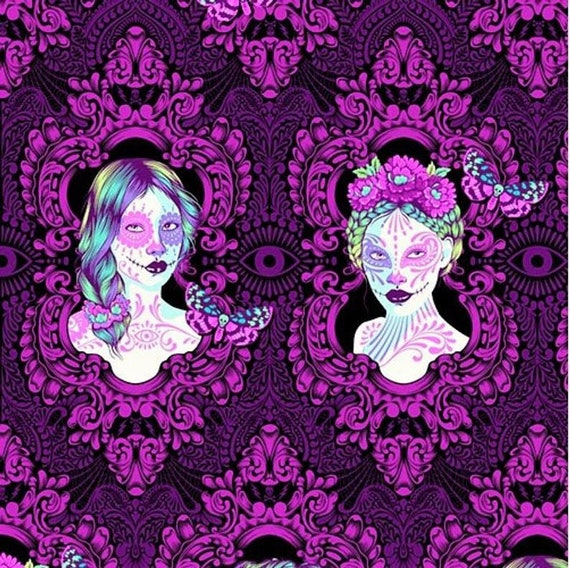 OOP- Tula Pink's De La Luna Fabric Possessed in Clairvoyant for Free Spirit Fabrics — 1/3 yard (30cm).