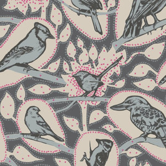 Sweet Dreams by Anna Horner for Free Spirit Fabrics - Cacophony in Charcoal