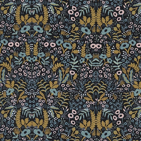 Menagerie -- Tapestry in Midnight Metallic by Rifle Paper Company for Cotton and Steel