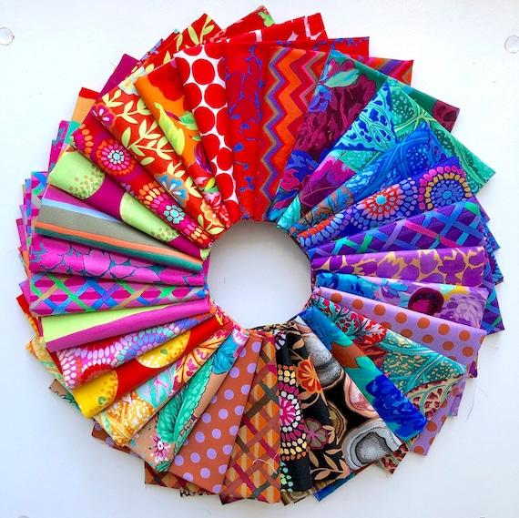 February 2020 Kaffe Fassett Collective - Fat Quarter Bundle of 30 Warm Fabrics