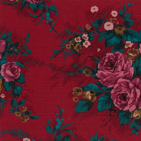 New Outback Wife by Gertrude Made for Ella Blue -- 1/2 metre Elizabeth in Red