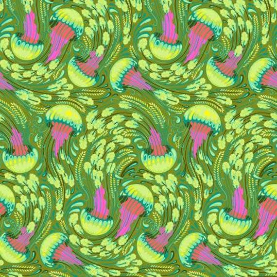 Fat Quarter Sea Bloom in Seaglass  - Tula Pink's Zuma for Free Spirit Fabrics