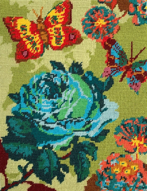 Deposit Only for October/November Delivery of Anna Maria Horner Tapestry Kit -- Cabbage Rose