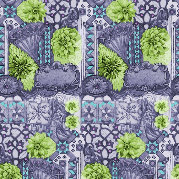 English Summer by Anna Horner for Free Spirit Fabrics - Tourist in Peridot