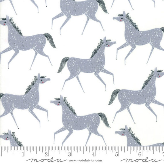 Farm Charm -- Pony Party in Steel (48293 21) by Gingiber for Moda -- Fat Quarter