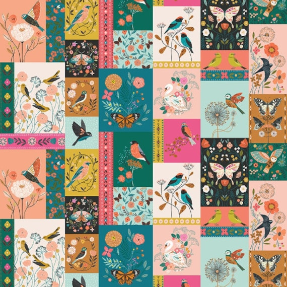 Aviary by Bethan Janine for Dashwood Studio - Fat Quarter of Nature Study
