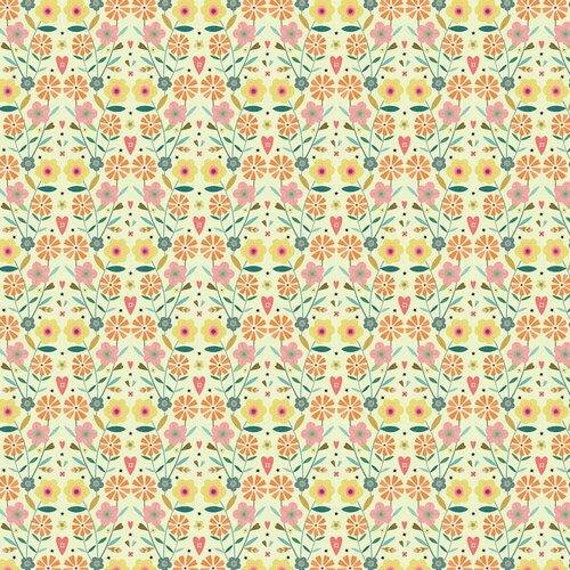 Hedgerow by Bee Brown for Dashwood Studio -  - Flowers- Fat Quarter