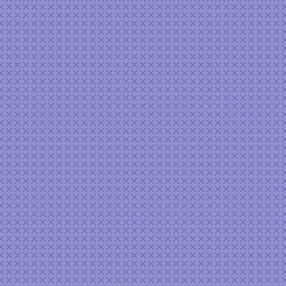 Cross Stitch by Alison Glass -- Fat quarter of Cross Stitch in Lilac  - A9254-P
