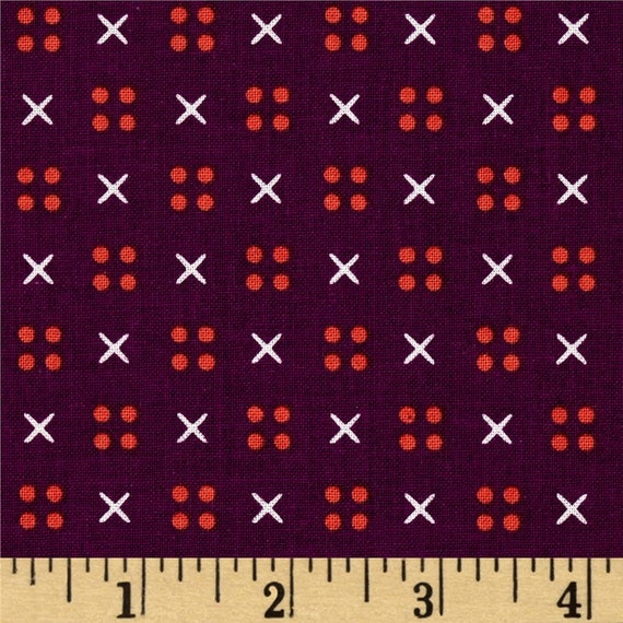 Penny Arcade -- X Dot in Purple by Kimberly Kight for Cotton and Steel