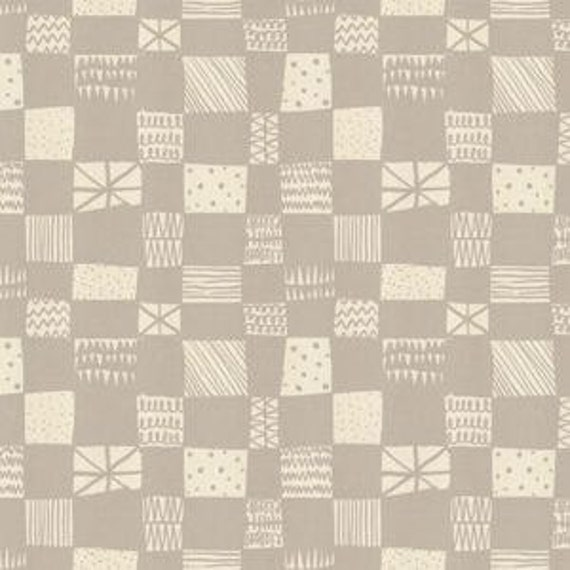 In Stock! Printshop Grid in Grey by Alexia Marcell Abegg for Cotton and Steel