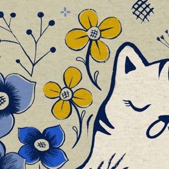 In Stock! Pennie CANVAS in Neutral of From Porto With Love by Sara Watts for Cotton and Steel