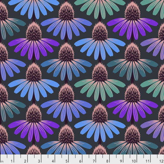Hindsight by Anna Maria Horner for Free Spirit Fabrics- Fat Quarter of Echinacea Glow in Amethyst