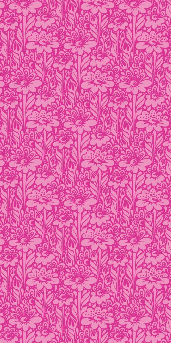 Fat Quarter Daisy Buds in Fuchsia - Tula Pink's True Colors 2015 for Free Spirit Fabrics