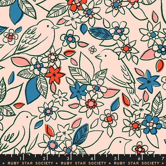Aviary -- Botanical in Pale Peach (RS5001-14) by Ruby Star Society for Moda -- Fat Quarter