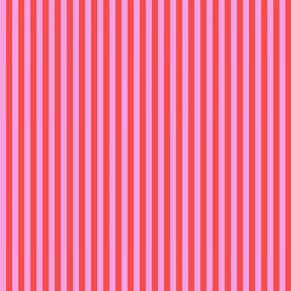 Fat Quarter Tent Stripe in Poppy  - Tula Pink's All Stars Fabric for Free Spirit Fabrics