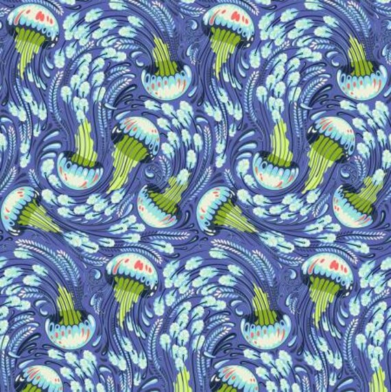 Fat Quarter Sea Bloom in Aquamarine  - Tula Pink's Zuma for Free Spirit Fabrics